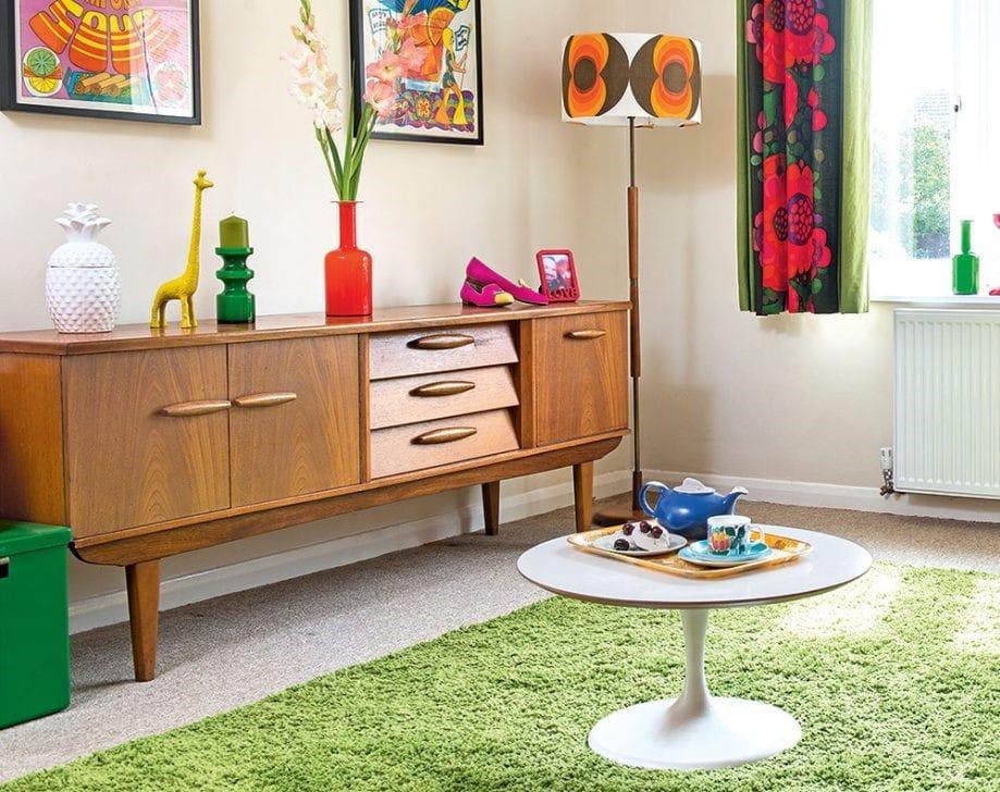 Retro obývačka – ilustračný obrázok, zdroj.