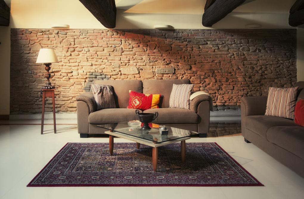 Obývačka s perzským kobercom