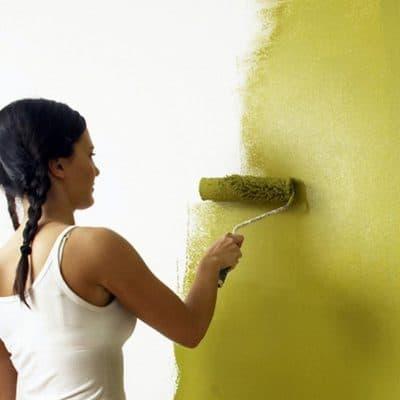 umyvatelna farba v interieri