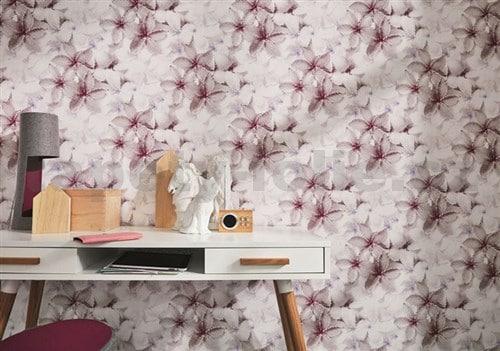 Vliesové tapety, kvety ružové, Guido Maria Kretschmer 246910, P+S International, rozmer 10,05 m x 0,53 m