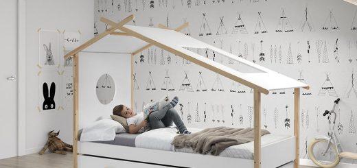 Detská posteľ domček COCOON len úložný priestor