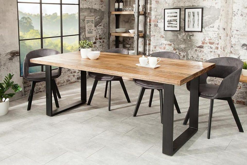 Luxusný jedálenský stôl Thunder 160 cm mango