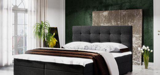 Čalúnená posteľ LAKE 2 + rošt + matrac, 180x200, Cosmic 100