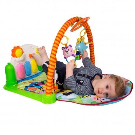 DR Detská hracia deka s hrazdičkou a pianom