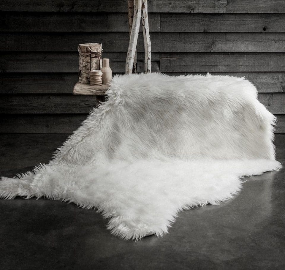 TODAY CHALET koberec kožešina XXL 120x180 cm bílá